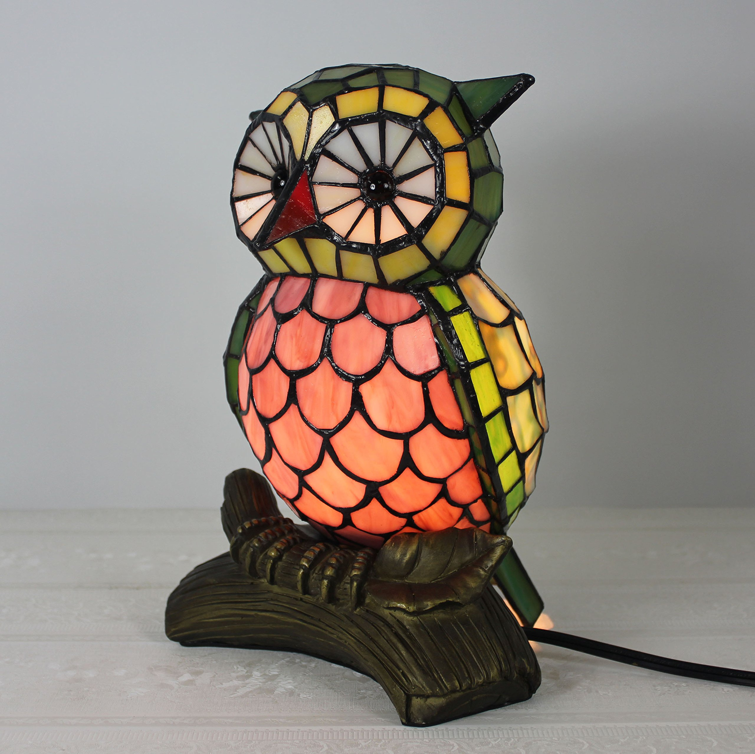 Tiffany Style Lovely Creative Owl Table Lamp Children's Lamp Night Light