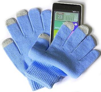 PRESKIN - Guantes de Invierno Calientes de Colores con función de Smartphone, Hombres y Mujeres, teléfono móvil para la Pantalla táctil/Display de la Tableta y la navegación, contra el frío: Amazon.es: Deportes