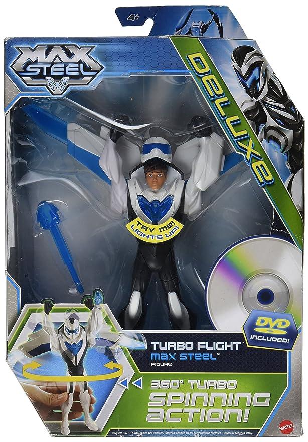 Max Steel - 6 inch Flight Suit Max with DVD - Turbo Flight Max Steel: Amazon.es: Juguetes y juegos