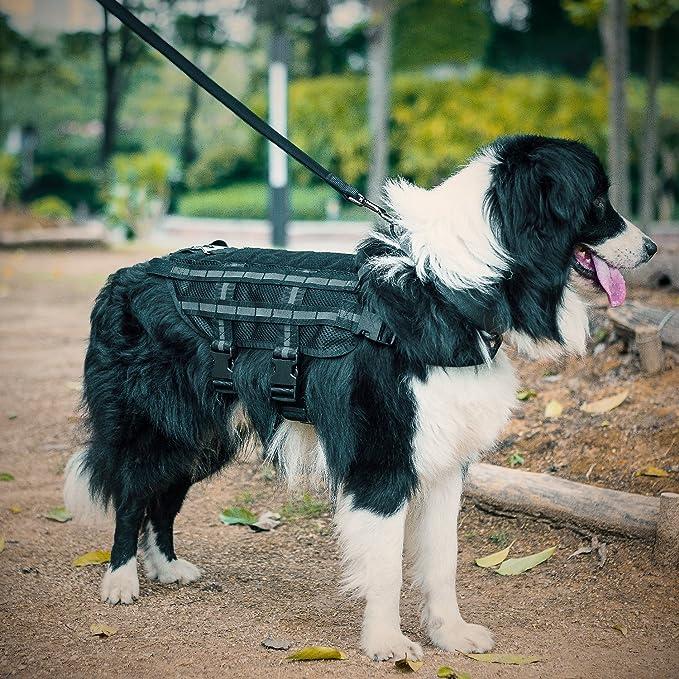 1T Fácil Perros Chaleco Táctica K de 9 Malla Transpirable Harness ...