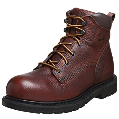 "Amazon.com: WORX by Red Wing Shoes Men's 5660 6"" Unlined Steel Toe ..."