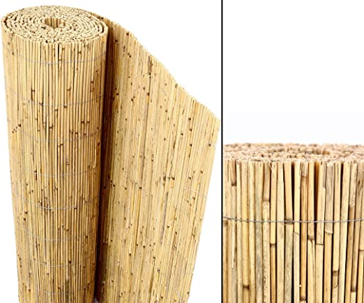 bambus-discount.com Beach - Rollo de caña de bambú para Valla de privacidad (180 x 600 cm): Amazon.es: Jardín