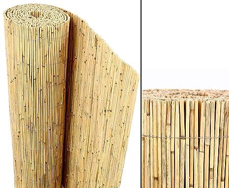 amazon de bambus discount com schilfrohrmatten premium beach 180 hoch x 600cm breit ein produkt sichtschutz matten windschutzmatten