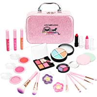 AstarX Makeup Toys for Kids,Real Washable Cosmetics Safe & Non-Toxic Beauty Set for Party Game Halloween Christmas…