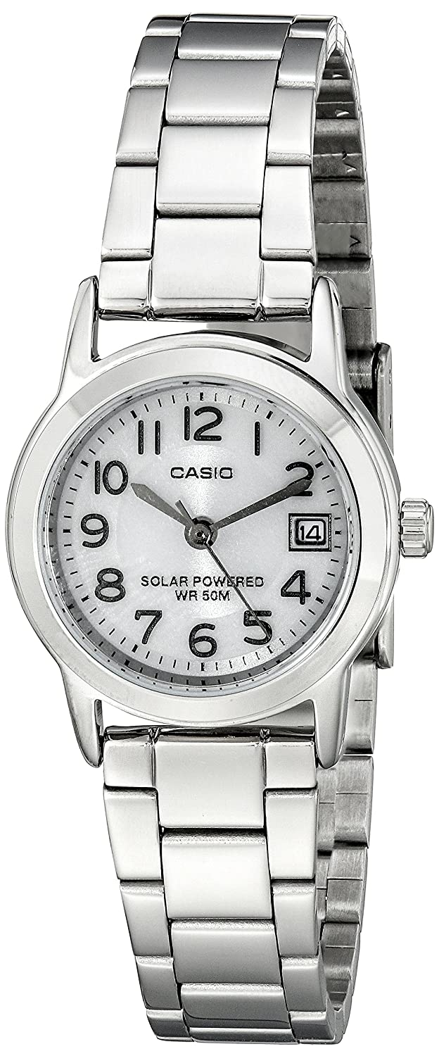 Casio Women s LTP-S100D-7BVCF Easy-To-Read Solar Powered Stainless Steel Watch