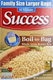 Success Rice Boil In Bag Brown Rice, 6 Large Bags,  Net WT 32 oz