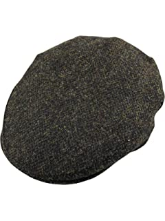 83772a59 Harris Tweed Mens 100% One Size Elasticated Flat Cap 6 Colours Available