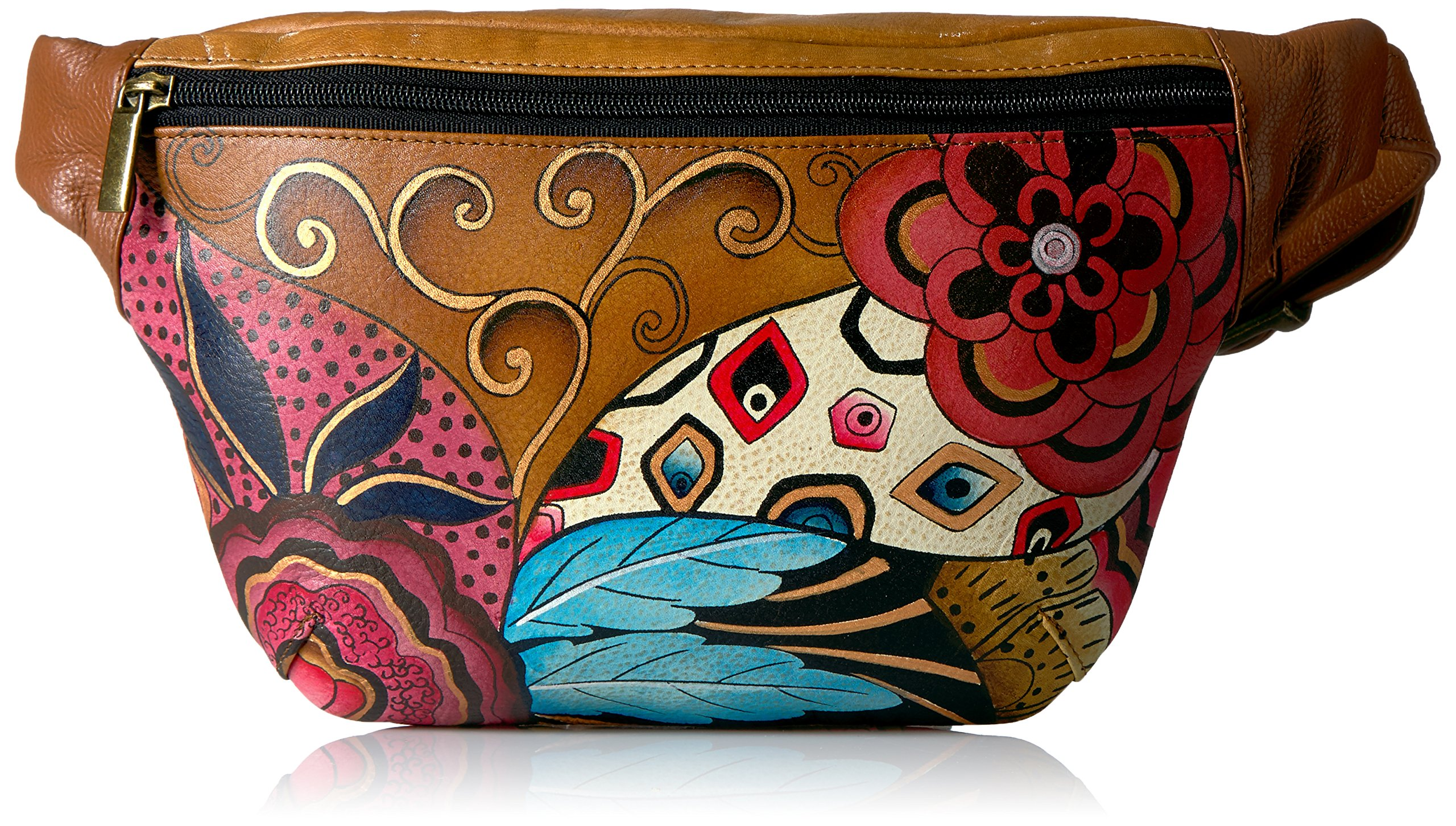 Anuschka Women's Hand Painted Leather Fanny Pack