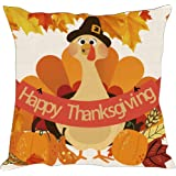 """Tom Boy Thanksgiving Throw Pillow Covers Cushion Cases Winter Holiday Decorative Pillowcases for Couch,18""""x18"""""""