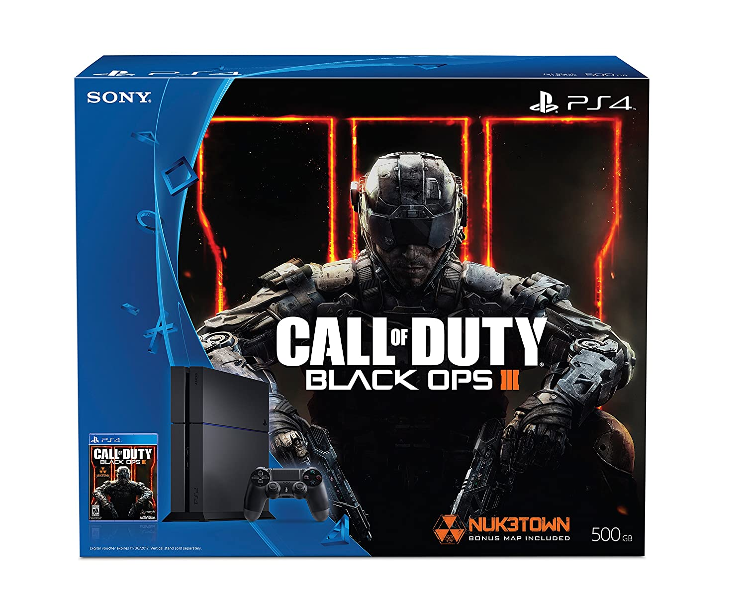 Sony PlayStation 4 500GB Bundle with Call of Duty Black Ops III - Black