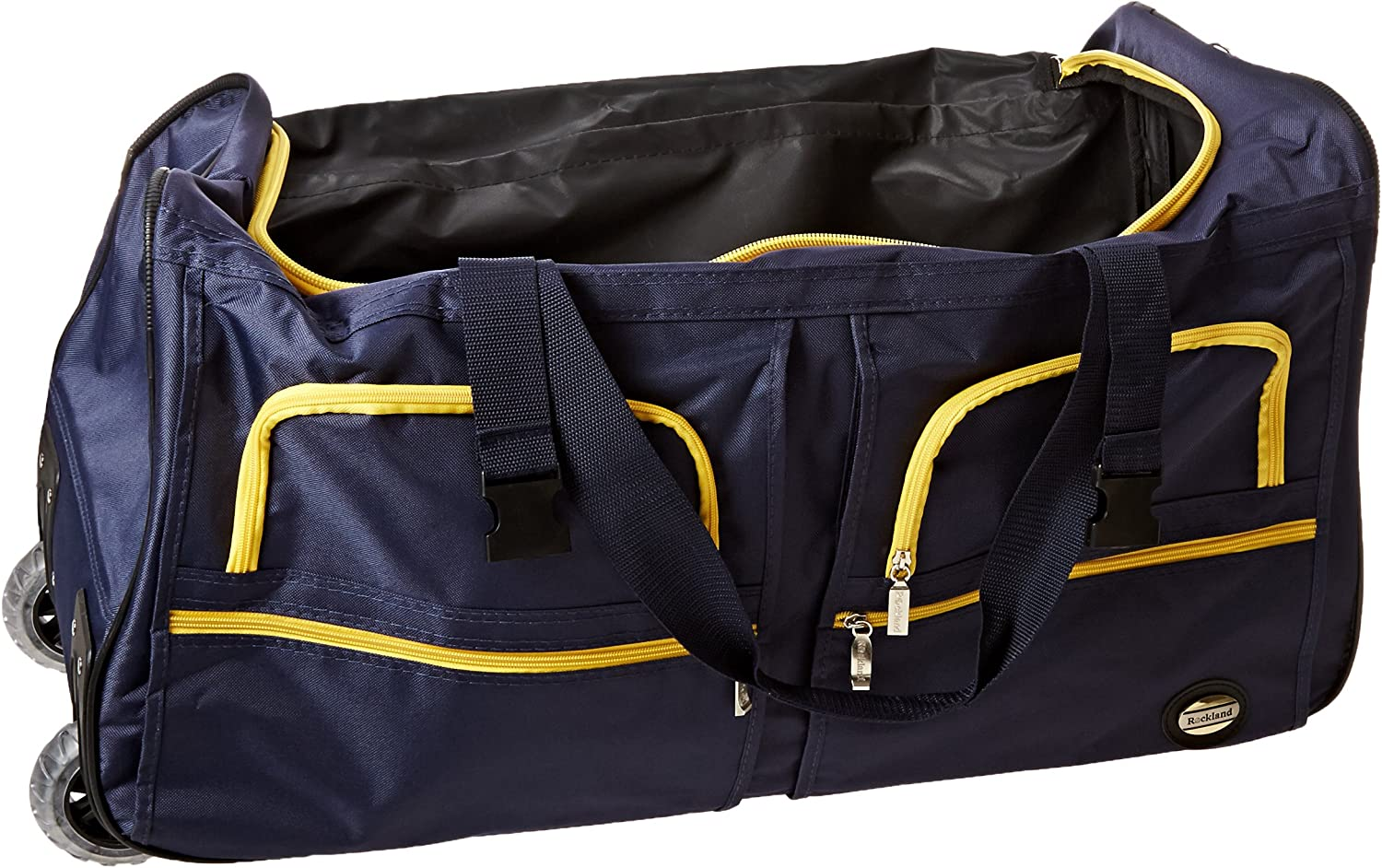 | Rockland Rolling Duffel Bag, Black, 36-Inch | Travel Duffels