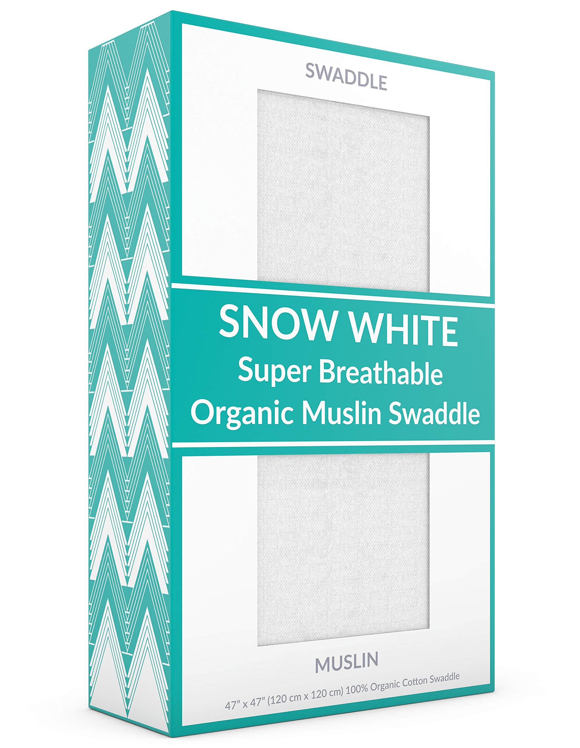CON.TT Premium Muslin Swaddle Baby Blanket | 100% Organic Cotton Muslin | Super Breathable & Thin Layer | Single Pack of Naming Convention | Snow White