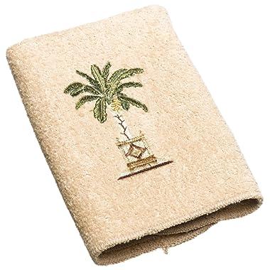 Avanti Linens Banana Palm Wash Cloth, Linen