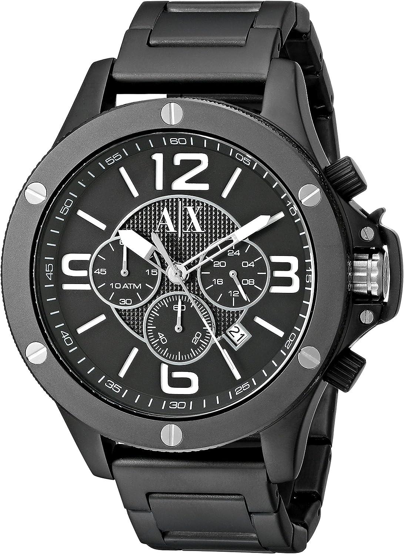 Cinturino per orologio Armani AX1503 Acciaio Nero 22mm