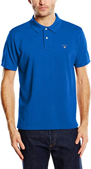 Gant Original Pique SS Rugger, Polo Para Hombre, Azul (Nautical ...