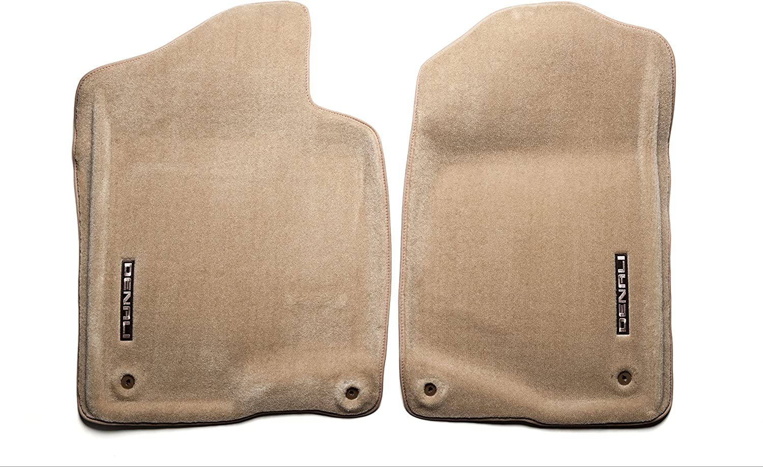 GM Accessories 17800409 Front Carpeted Floor Mats in Cashmere with Cadillac Logo General Motors