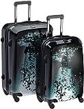 "Travelite 70530-01 - Juego de maletas 4 ruedas L/M, Edición Limitada""gota de agua"", Negro, 75cm 153L"