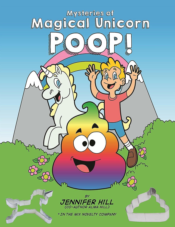 Mysteries of Magical Unicorn poop coloring book and Emoji poop cookie cutters