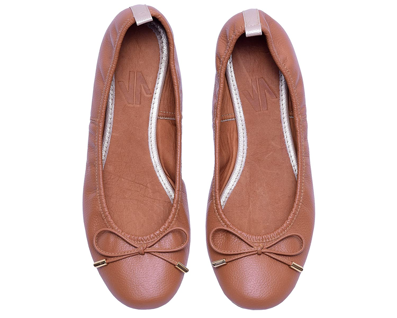 VIDALeather Daily Women Ballerina Colombian Leather Flats | Zapatillas de Mujer B074CBDWFV 10 B(M) US|Brown