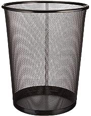 Circular Mesh Bin - Waste Paper Basket (Black)