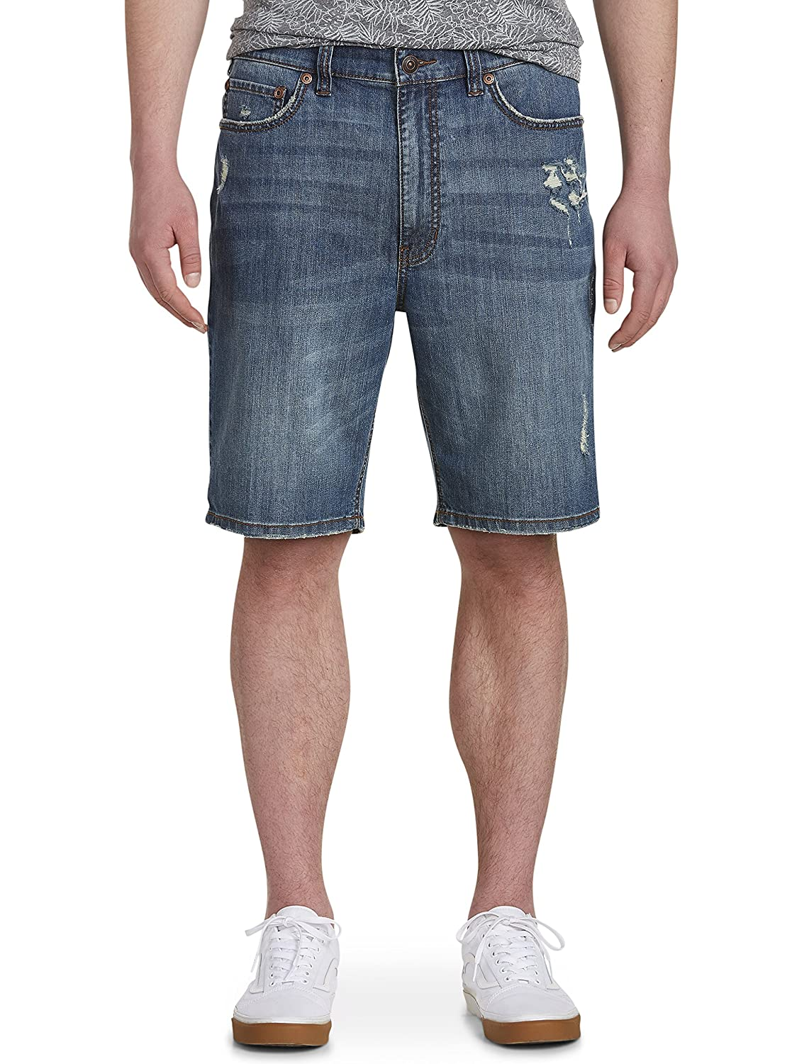 True Nation by DXL Big and Tall Deakin Blue Athletic-Fit Denim Shorts