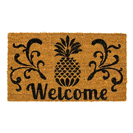 Coir Doormat Pineapple  sc 1 st  Amazon.com & Amazon.com : Coir Doormat Pineapple : Garden u0026 Outdoor pezcame.com
