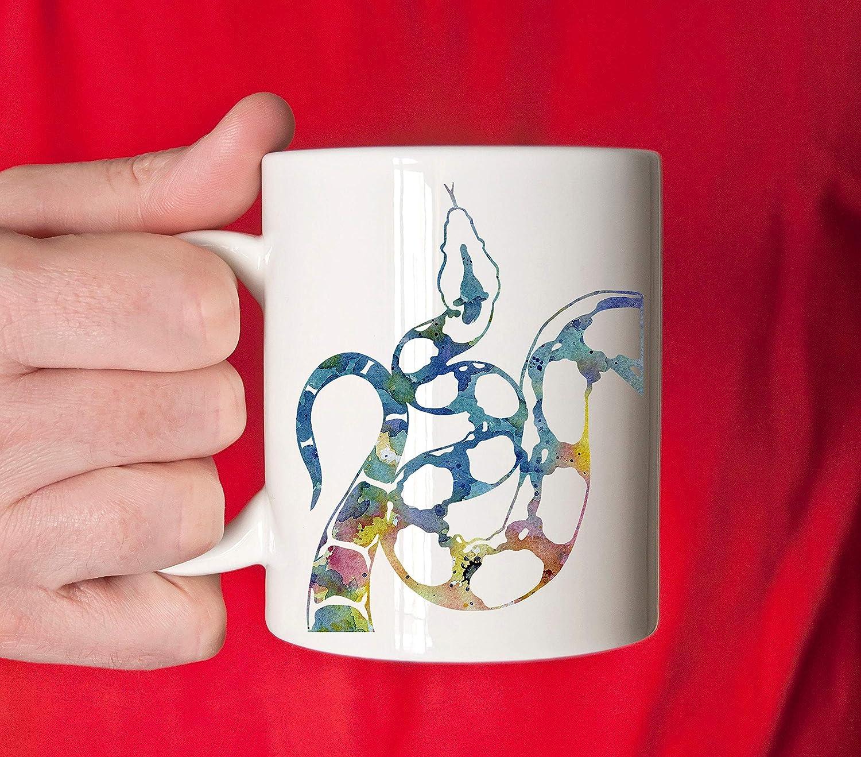 Boa Constrictor taza Boa Constrictor regalo colorido Boa taza de arte acuarela Boa Constrictor Snake taza de café única Boa Gifts