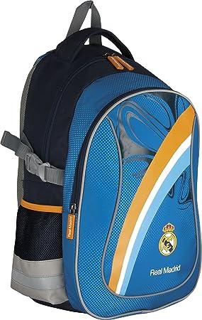 "Real Madrid Mochila Escolar y de deporte mochila ""Blue/Yellow 40 x"