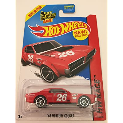 2014 Hot Wheels Hw Race - 68 Mercury Cougar - Red: Toys & Games
