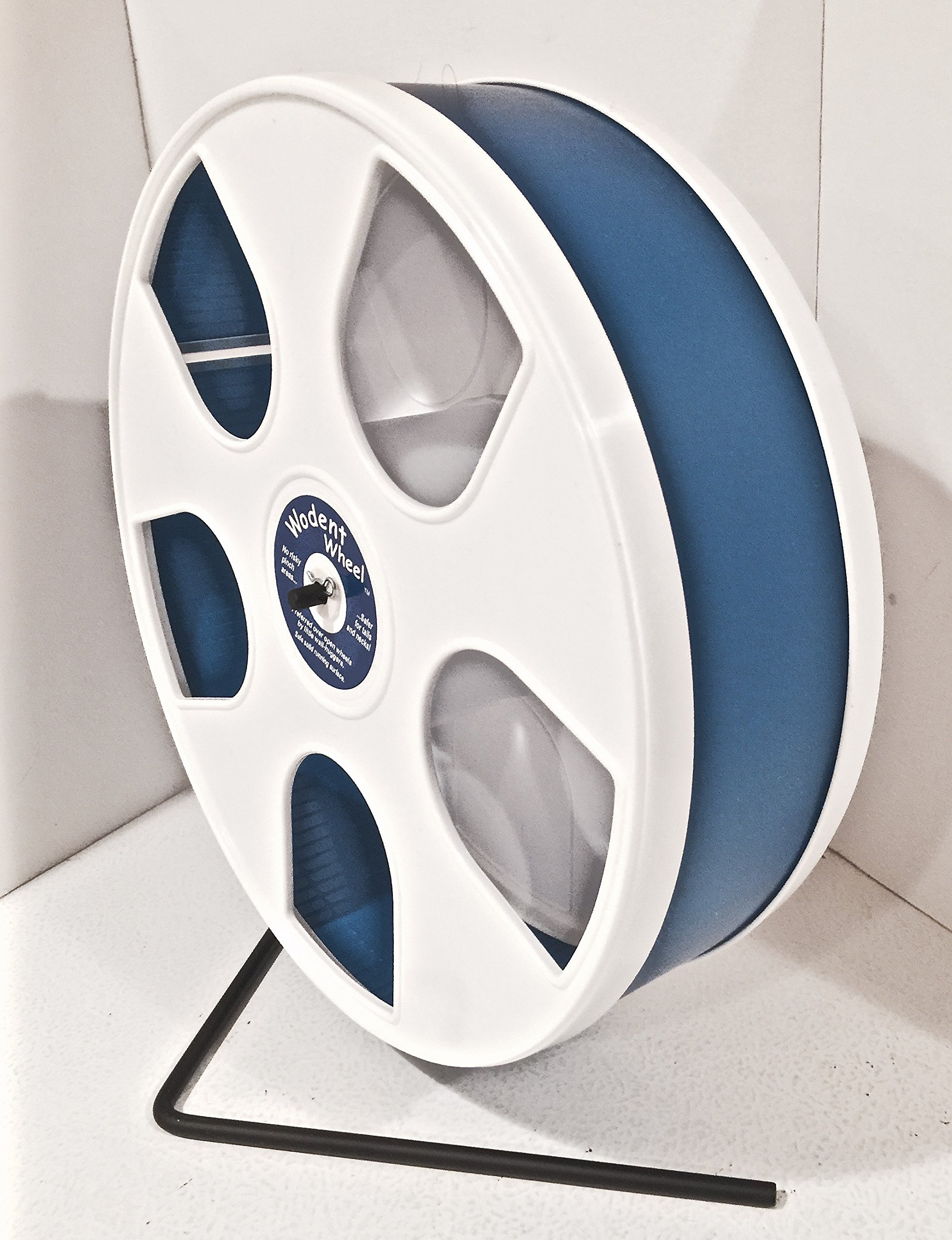 11'' WODENT WHEEL ASSEMBLED (WHITE W DK. BLUE) SAFETY SHIELD INCLUDED