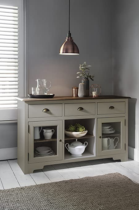 Sideboard Dark Pine And Silk Grey Canterbury Side Cabinet Noa U0026 Nani