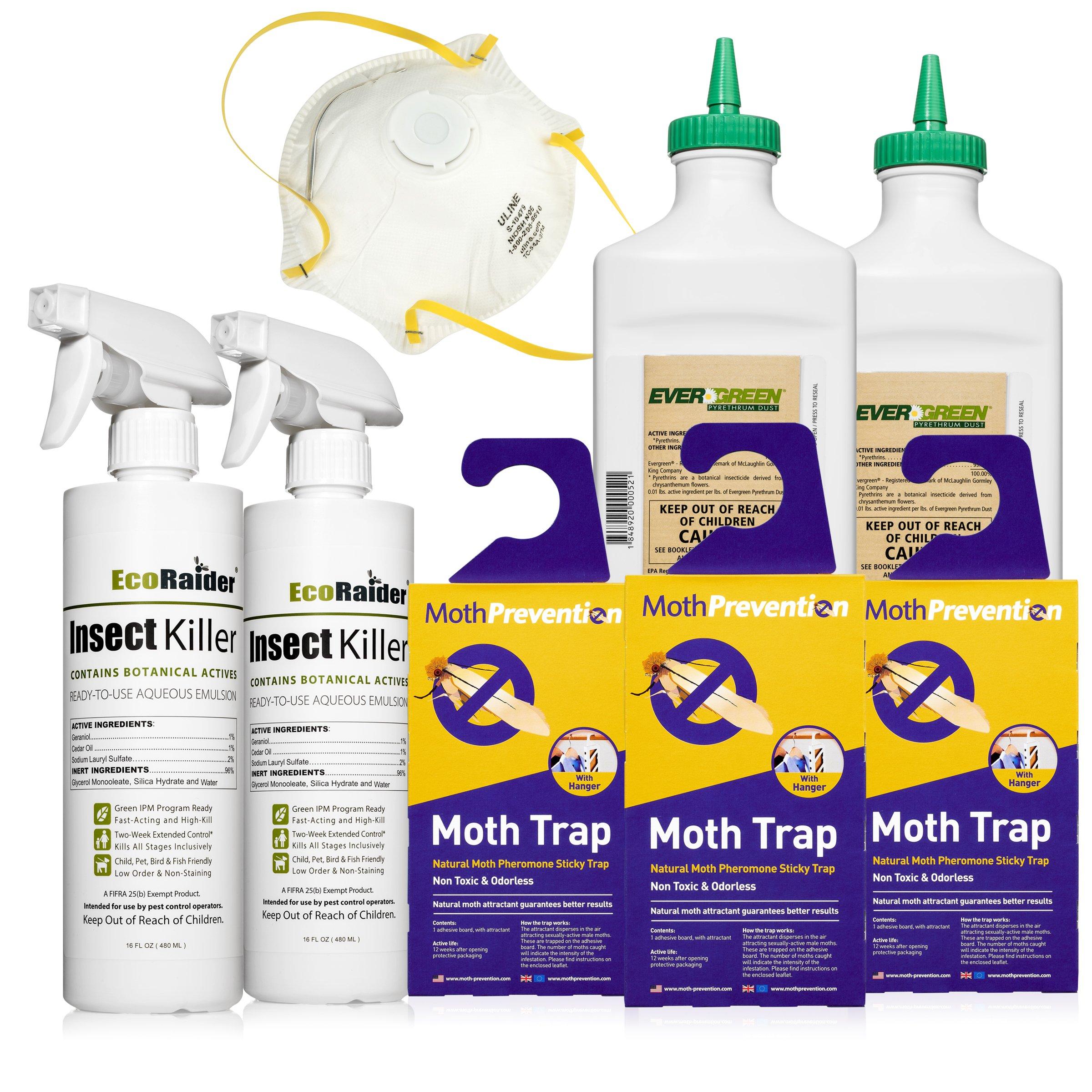 CARPET MOTH KILLER KIT - Natural Moth Killer Kit by Moth Prevention - 2 to 3 Room Treatment