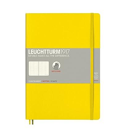 Leuchtturm 1917 - Cuaderno de tapa blanda, color amarillo limón Composition (B5)