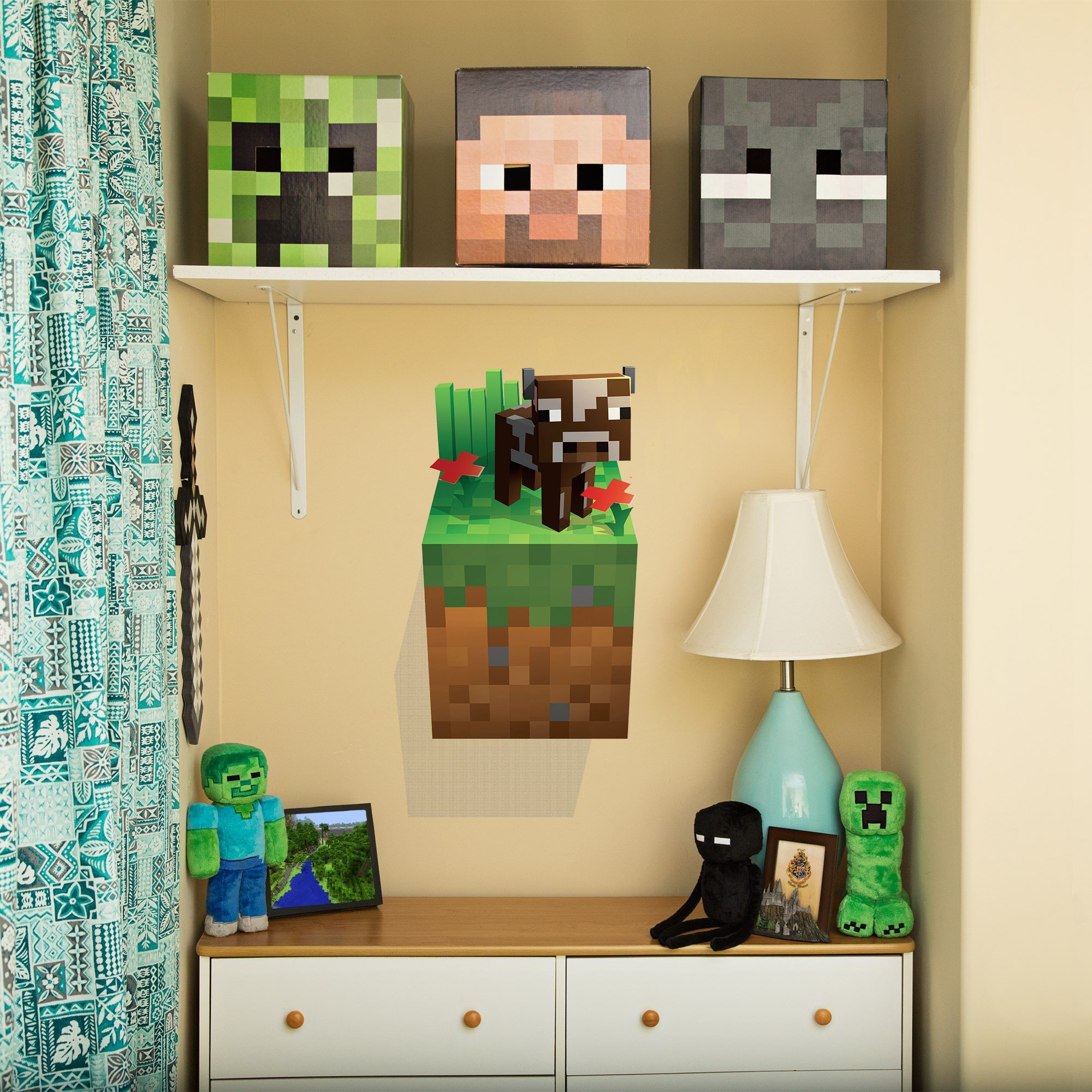 JINX Minecraft Wall Cling Decal Set (Creeper, Enderman, Pig, Cow) by JINX (Image #6)