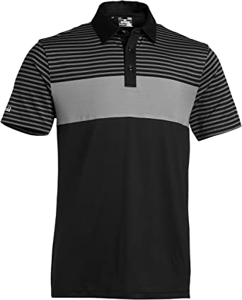 Under Armour Golf Polo T-Shirt Coldblack Major Stripe - Camiseta ...