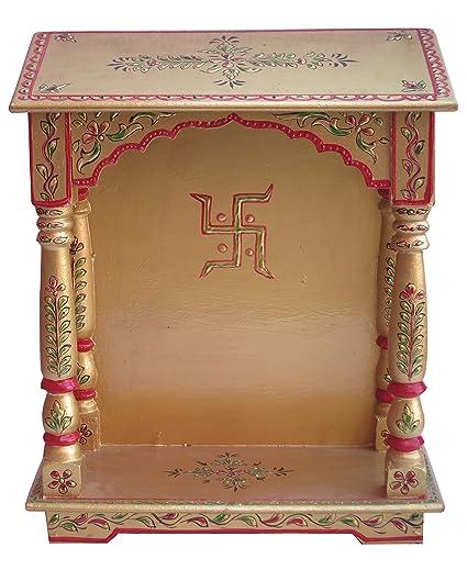 Amazon Com Wood Temple Puja Mandir Temple For Home Pooja Mandir