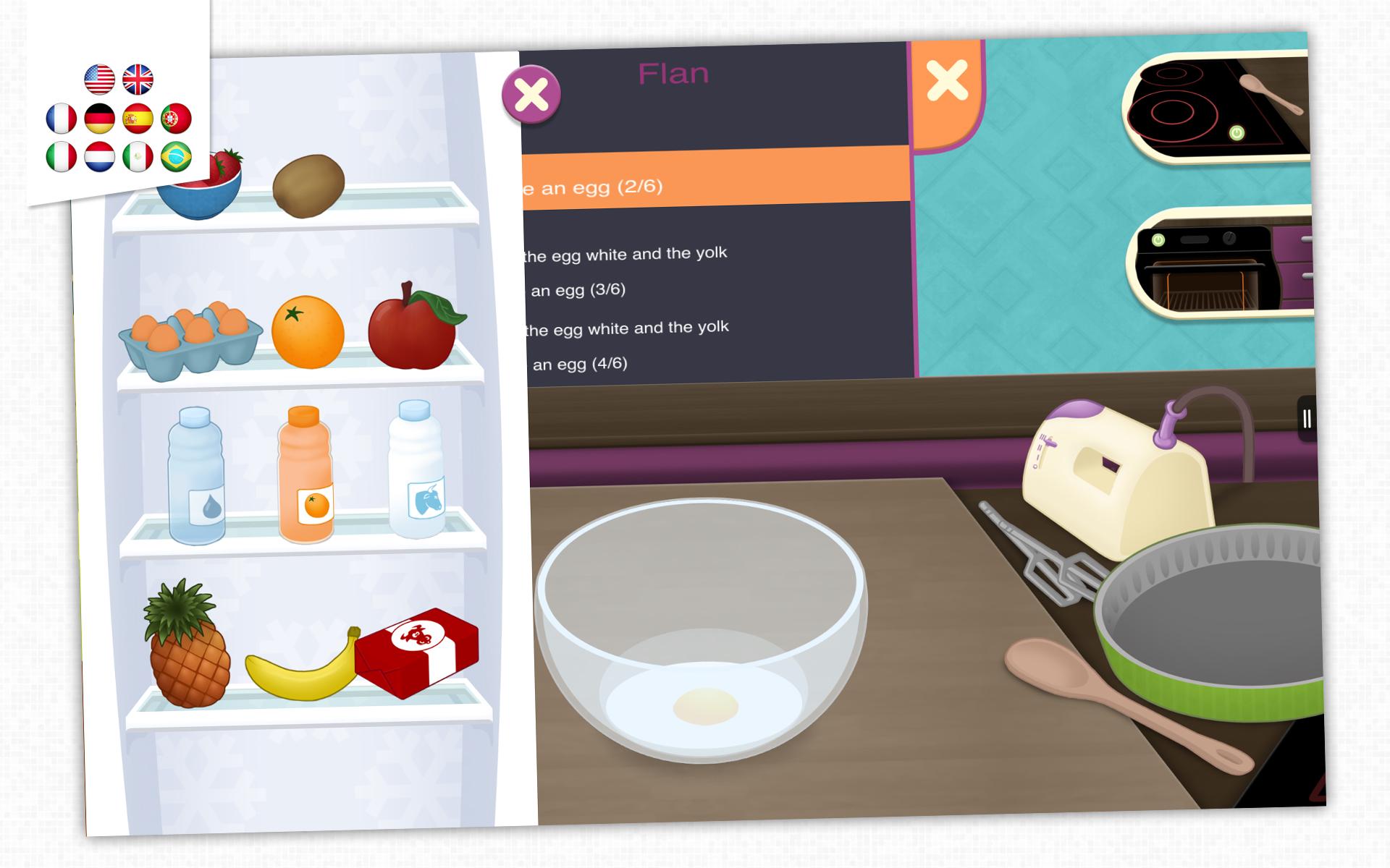 kidecook jeu de cuisine pour enfants appstore for android. Black Bedroom Furniture Sets. Home Design Ideas