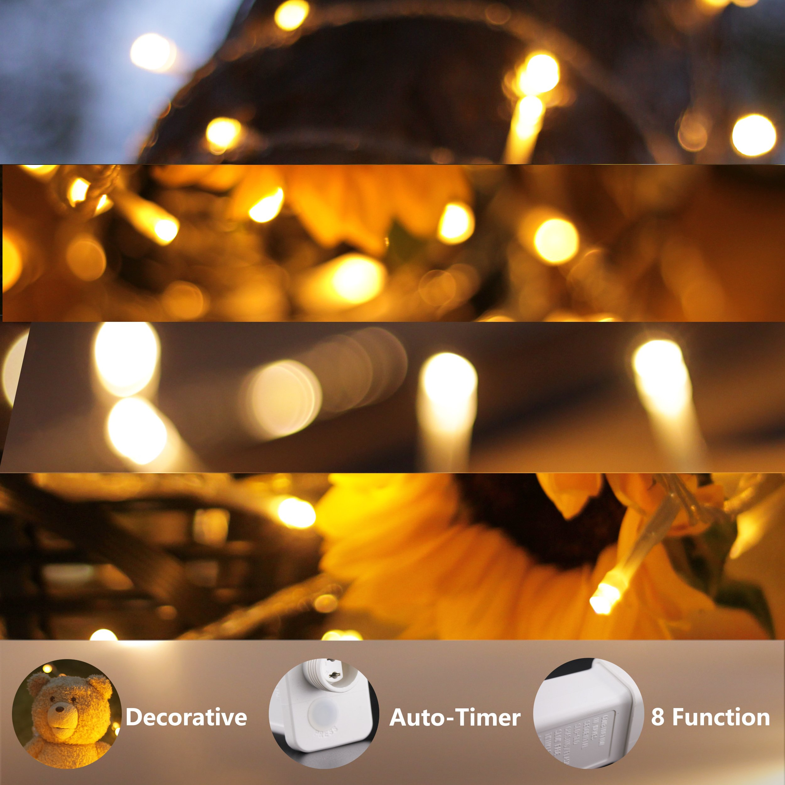 LouisChoice Extension Set of myCozyLite LED String Lights, 33 Ft, 100 LED, Waterproof with Male and Female Plug, Indoor & Outdoor Use (Transformer NOT Included) by LouisChoice (Image #6)