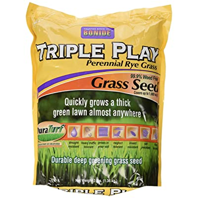Bonide 60271 Triple Play Rye Grass Seed, 3-Pound : Grass Plants : Garden & Outdoor