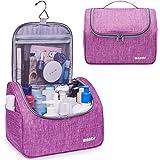 WANDF Hanging Toiletry Bag Travel Cosmetic Organizer Shower Bathroom Bag for Men Women Water-resistant (L, Denim Purple - L.)