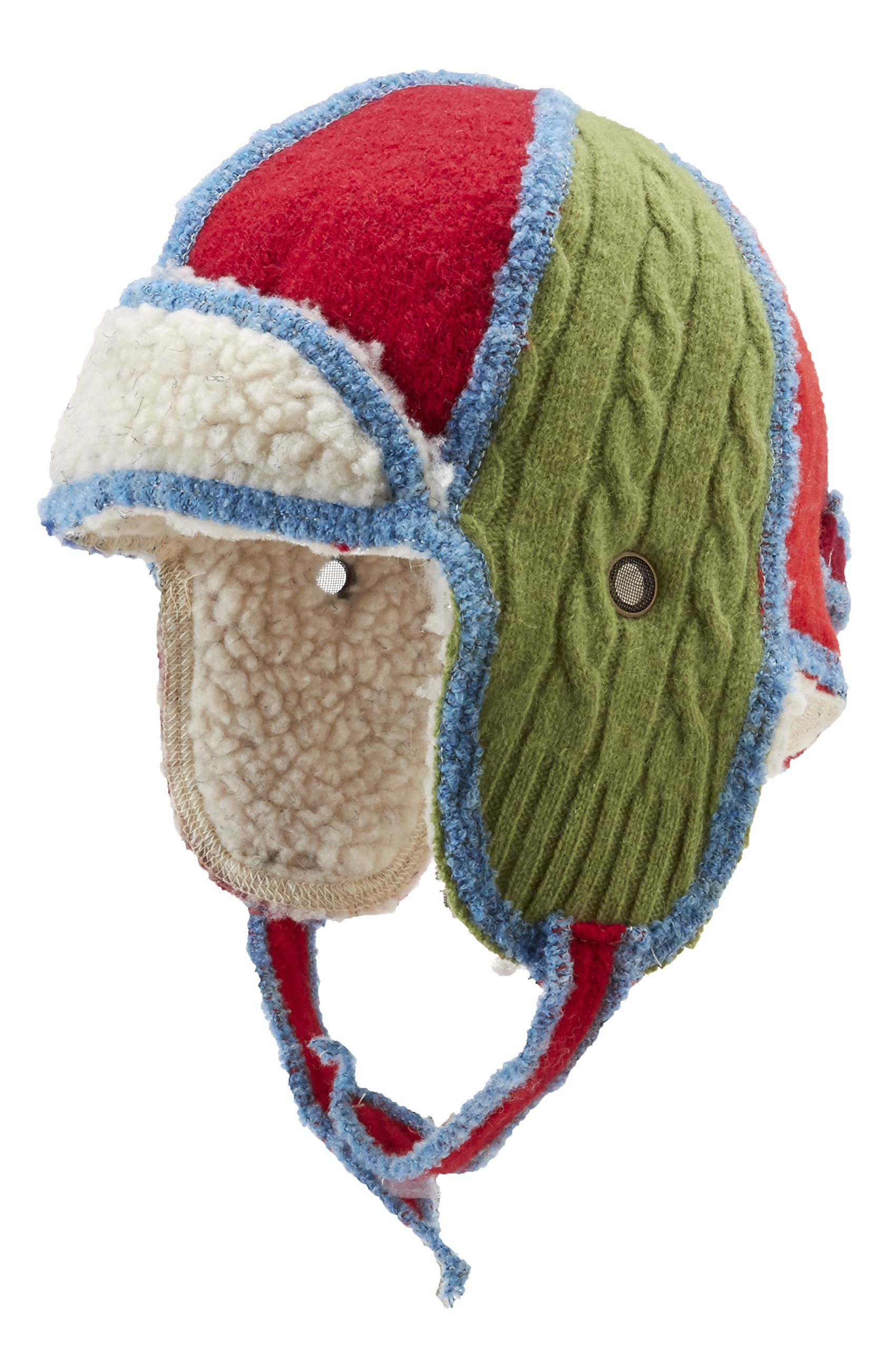 Xob Xobomber Upcycled Wool Sweaters Kids Winter Hat, Brights, Small/Toddler by Icebox Knitting