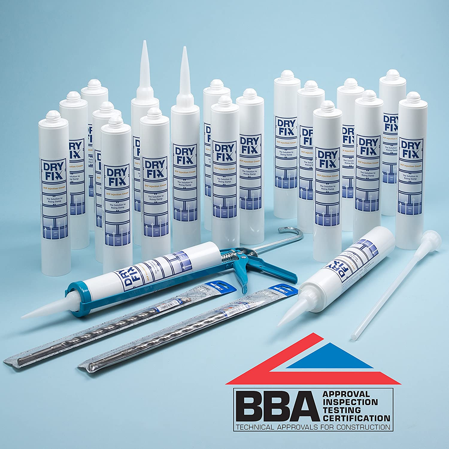 DryFix DPC Damp Proofing Injection Cream 380ml BBA x 20 Kit with Free Snip-Off Tool Alliance Remedial Supplies Limited