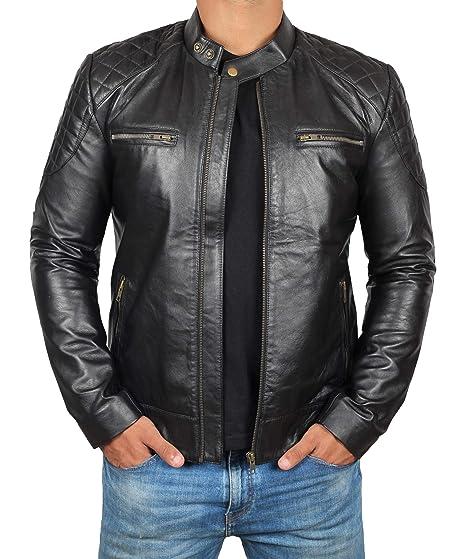 c0d461fdb Mens Black Leather Jacket - Genuine Lambskin Leather Jacket Men