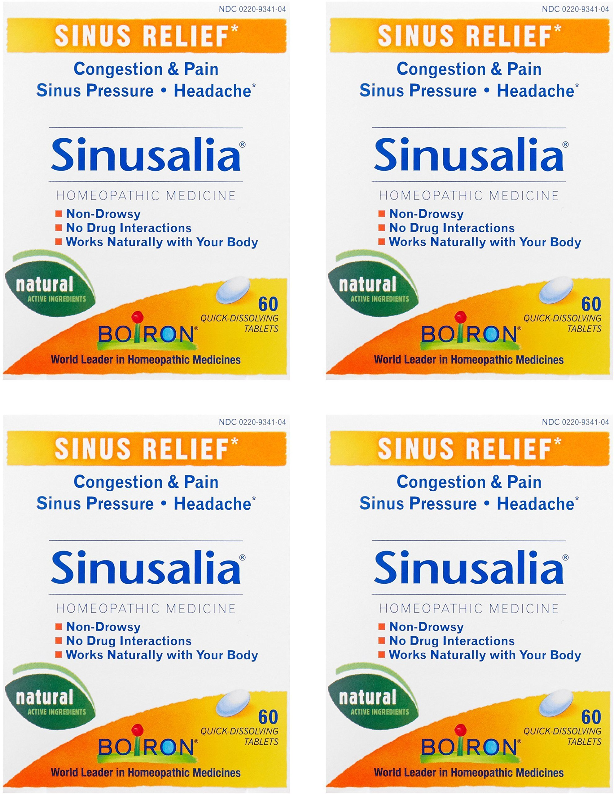 Boiron Sinusalia Tablets - 60 tabs (Pack of 4)