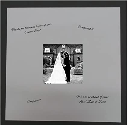 Amazon.com: 24x24 Square White Signature and Autograph Picture Mat ...