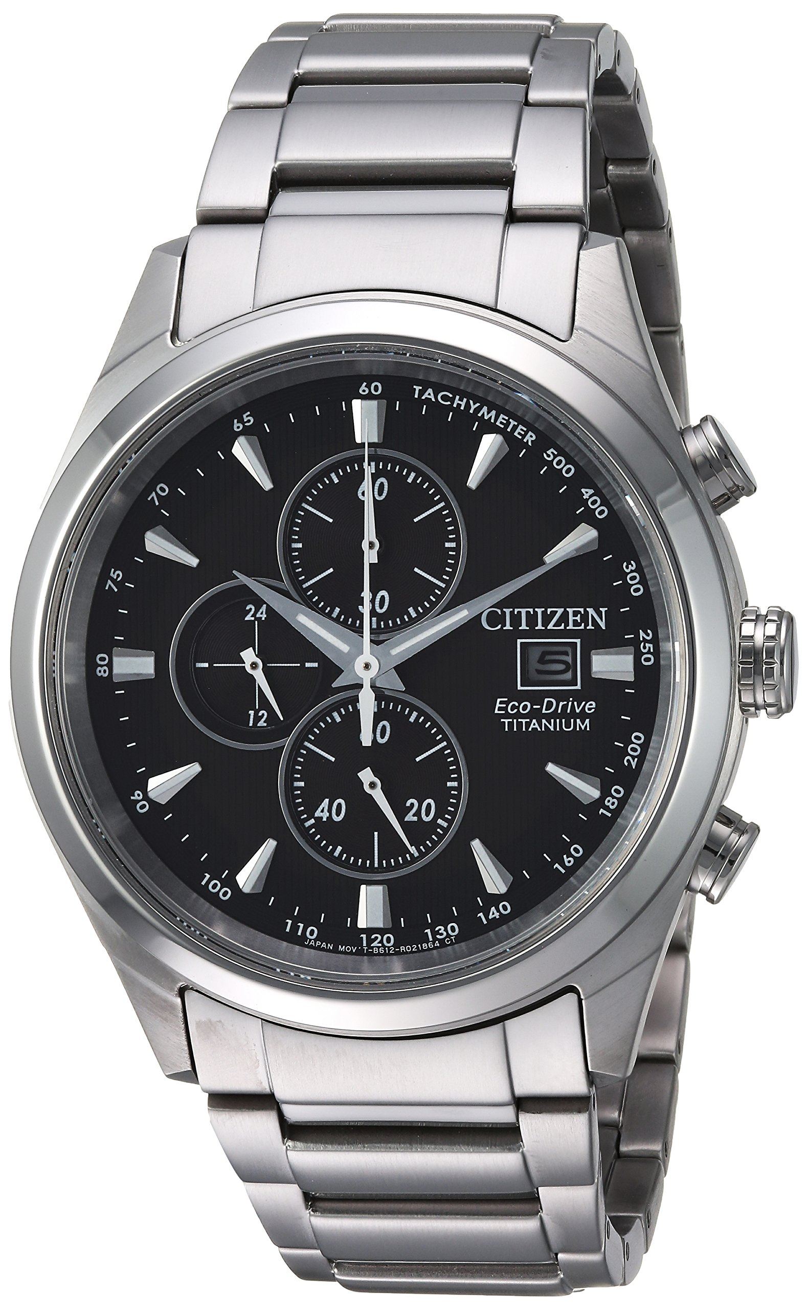 Citizen Men's Silver-Toned 'Eco-Drive' Quartz Titanium Casual Watch (Model: CA0650-58E)