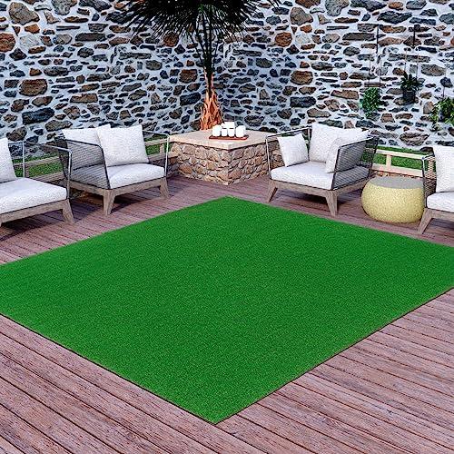 Ottomanson Evergreen Artificial Turf Area Rug