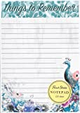 Punch Studio Peacock Things to Remember 125 Sheet Notepad