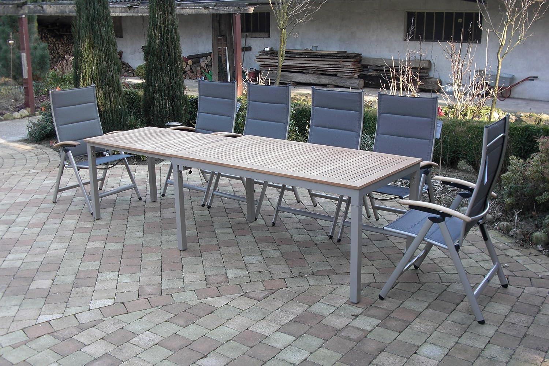 Amazon.de: 7-teilige Bukatchi Gartenmöbel Gruppe, 6 x Klappsessel ...