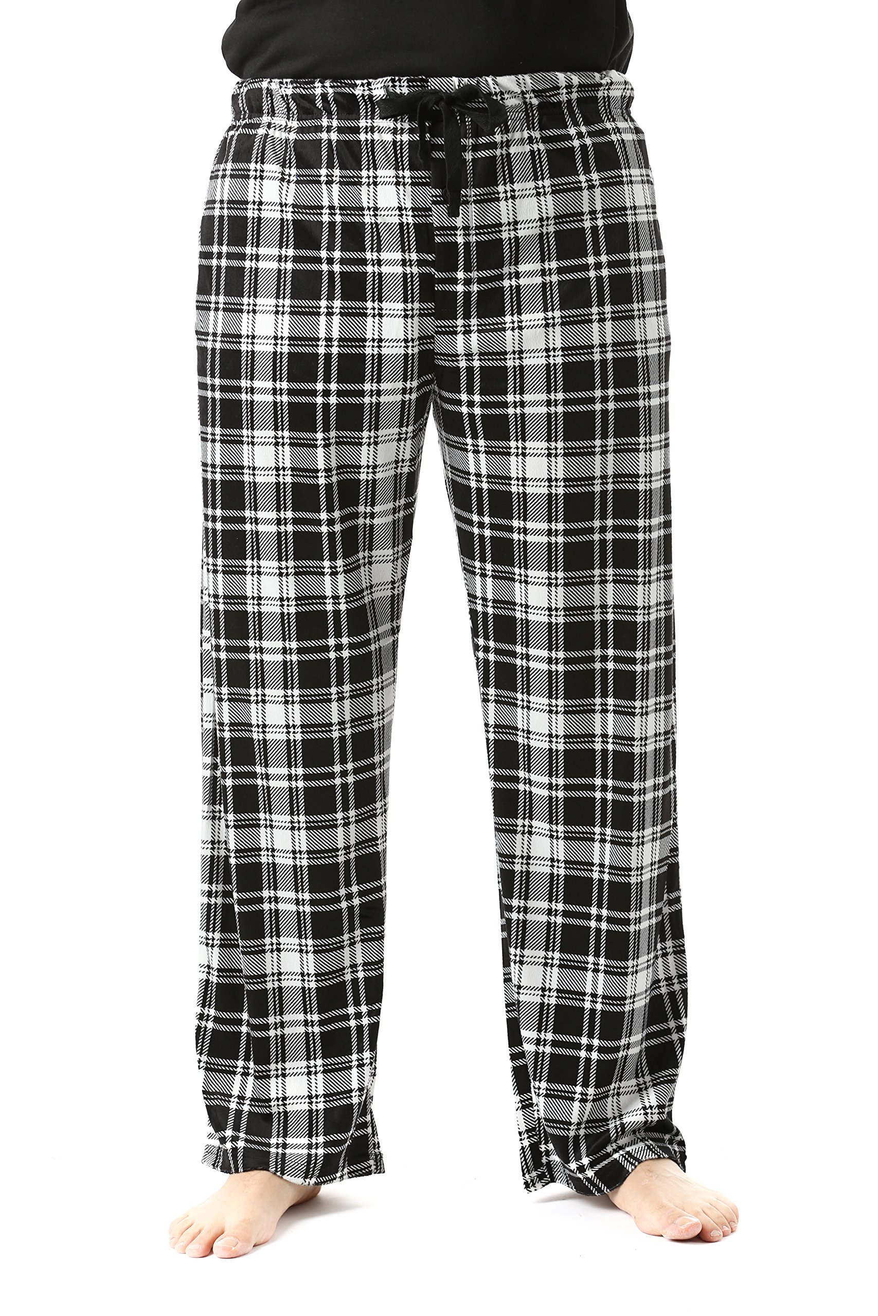 #FollowMe 45903-3A-S Fleece Pajama Pants for Men/Sleepwear/PJs,Plaid 3a,Small
